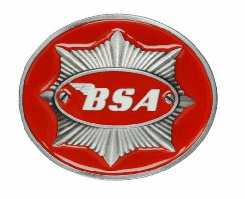 """BSA Classic Motos /""""Star/"""" Boucle de ceinture-Rouge"""
