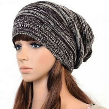 Coffee Chic Warm Slouch Caps Winter Baggy Beanie Knit Crochet Oversized Hat New