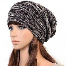 Women Coffee Warm Slouch Caps Winter Baggy Beanie Knit Crochet Oversized New