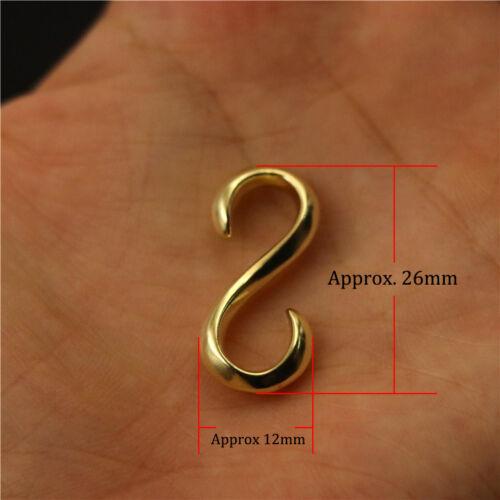 10pcs solid brass S hook buckle jewelry bracelet leather craft hanger coat rack