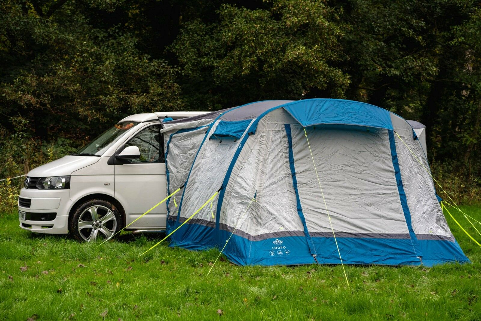 INFLATABLE CAMPER VAN DRIVE AWAY AWNING - OLPRO LOOPO BREEZE (blueE & GREY)