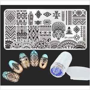 Born-Pretty-Ethnic-Nail-Art-Image-Stamp-Plate-Template-Stamper-Scraper-DIY-Tips