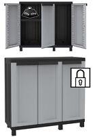 Plastic Garden Storage Cupboard. Outdoor/Shed/Garage. Indoor Cabinet. TD102B