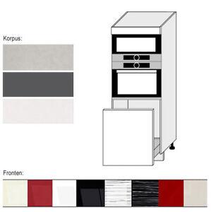 Hochschrank Fur Backofen Und Mikrowelle 60cm Farbe Wahlbar Pn D5ae