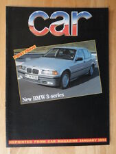 BMW 3 SERIES SALOON orig 1991 UK Mkt Road Test Brochure - E36