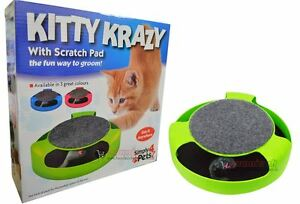 Kitty Crazy Scratch Pad With Mouse Chaser Pet Toys Grooming Clean Healthy Nails
