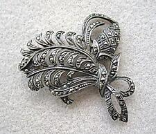 VINTAGE ART DECO Sterling Silver Marcasite Spilla di Abete Cono?