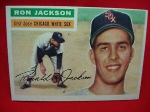 1956 TOPPS BASEBALL #186 - RON JACKSON - CHICAGO WHITE SOX - FIRST BASE