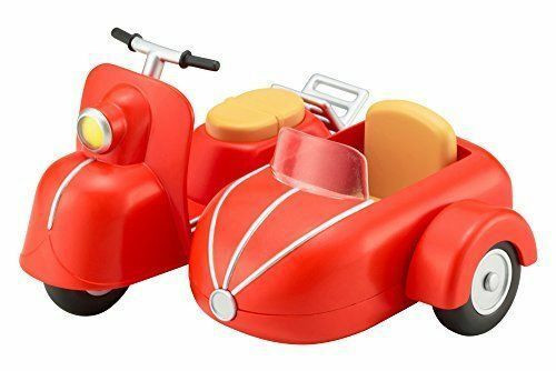 Cu-poche Extra Motorcycles & Sidecar (Cherry ROT) Figure NEW from Japan