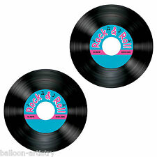 8 Classic Blue 50's 1950's Rock & Roll Birthday Party Record Drinks Coasters
