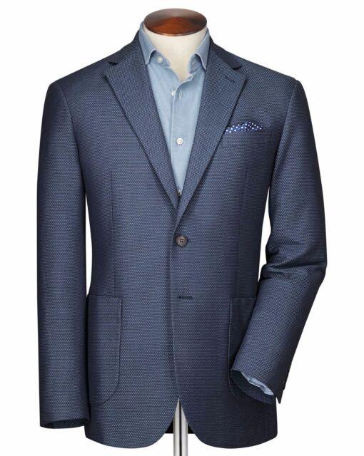 aaa06abbcb9 Mens Charles Tyrwhitt Slim Fit Blue Sky Semi-Plain Suit Jacket 42R CS074 06  i