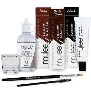 Mylee Eyebrow Eyelash Tint Tinting Dye Kit Brush Dish Eye Lashes Developer