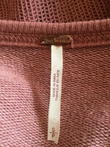 People Sweatshirt Free Rose Kvinders Design Floral p Størrelse Mauve Nwot W sheer S pXwTq55n