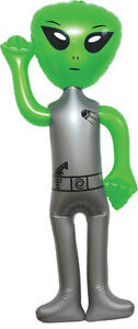 """NEW 56"""" JUMBO INFLATABLE ALIEN- *Green* -Blow Up Toy Party Prize Big Decoration"""