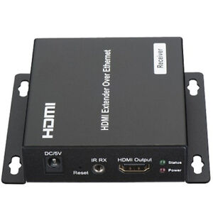 Details about HDMI Extender RX Receiver Over TCP IP via CAT5e/6 RJ45 LAN  Network Ethernet New