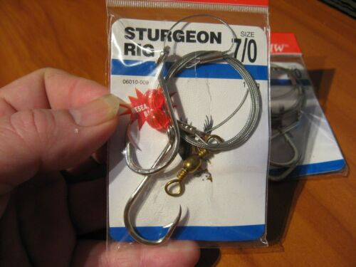"34/"" Nylawire 06010-009 2 Packs Eagle Claw 7//0 Sturgeon Fish Fishing Rigs"