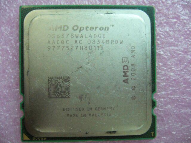 QTY 1x AMD Opteron 8378 2.4 GHz Quad-Core (OS8378WAL4DGI) CPU Socket F 1207