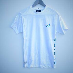 Tee shirt Alpine racing blanc officiel Alpine collection
