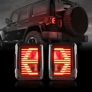 Jeep Wrangler Led Tail Lights >> Details About Fit 07 18 Jeep Wrangler Led Tail Lights E Type Brake Lights With Turn Signal