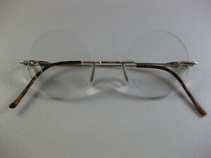 8c51037cb36ea Image is loading RIMLESS-ROUND-Small-Steve-Jobs-Inspired-GOLD-Reading-