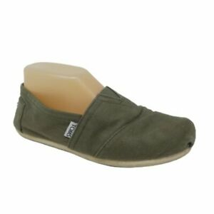 Toms-Classics-Flats-Womens-Size-8-Olive-Green-Canvas-Slip-On-Lightweight