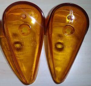 VW BUG GENUINE Turn Signal Light 2pcs pair Crystal Lens BEETLE 1964-1973