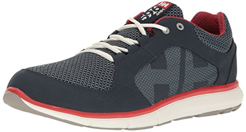Helly Hansen Men's Ahiga V3 Hydropower Fashion Sneaker, Navy Flag Red Off White,