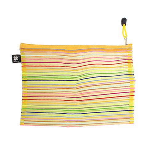 Meshy Style Colorful Stripe Pattern File Bag Holder