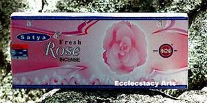 Satya-Fresh-Rose-Incense-10-Dhoop-Sticks-Floral-Fragrance-Scent-NEW