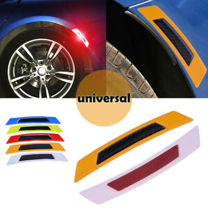 Details About Orange Car Bumper Reflective Safety Warning Strip Tape Reflector Stickers Decals