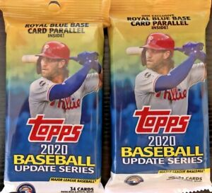 2020-Topps-Baseball-Update-Series-Fat-Pack-HOT-LOT-OF-TWO-platinum-bowman-chrome