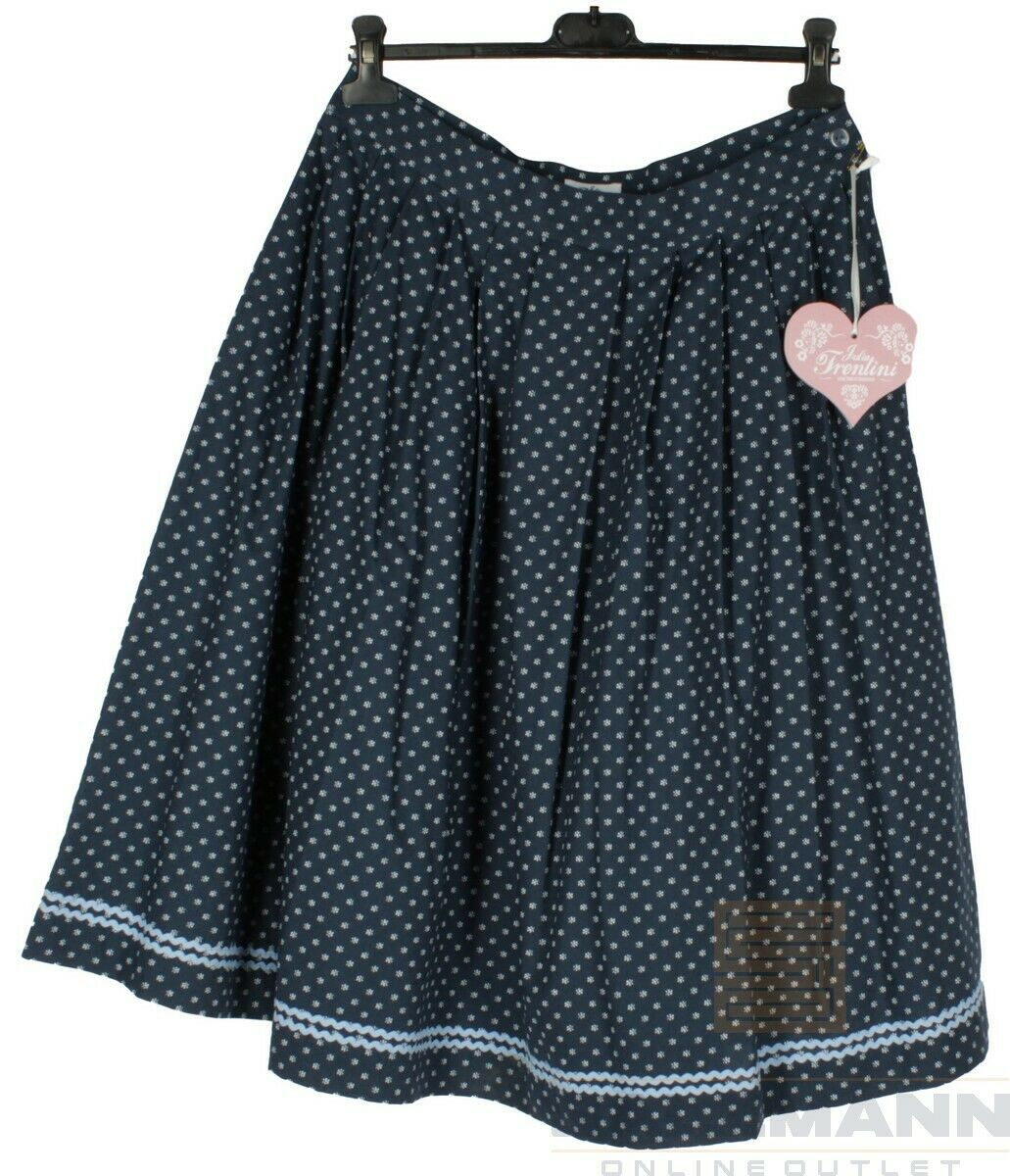 Julia Trentini Fritzi Ladies Trachten Skirt Size 42 Blue NEW