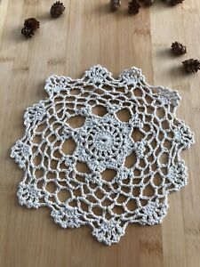 12Pcs/Lot Vintage Hand Crochet Lace Doilies Coasters Cotton Small 20cm Item4