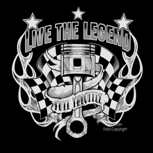 Vintage Rockabilly Felpa Auto Con D'epoca Garage Cappuccio Officina EYnBfwCqn