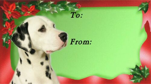by Starprint Design No.1 Dalmatian Dog Christmas Labels