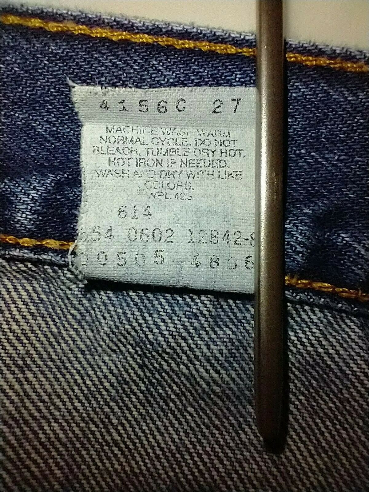 Levi's 505 Jean's Made in the USA Men's size 36x3… - image 11