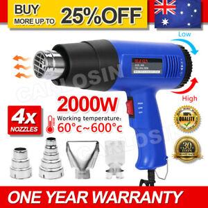 220V 2000W Electric Heat Gun 60-600 Degree Temperature Adjustable Hot Air OZ