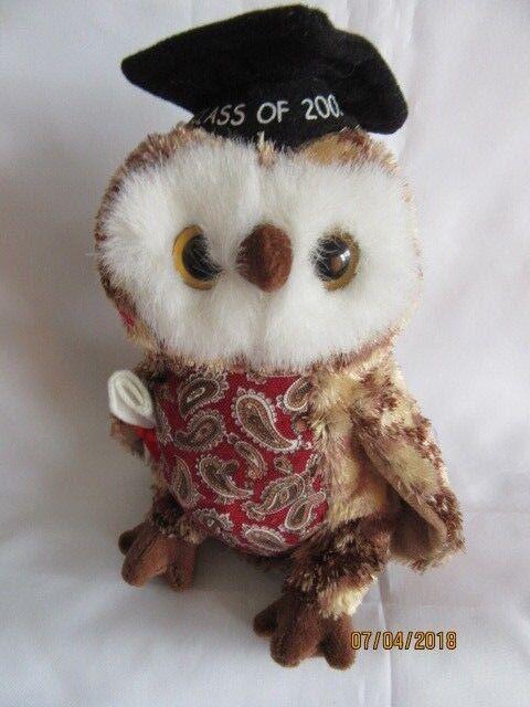 beb00d082ac TY Beanie Baby Smarty Owl Retired DOB April 13th 2004 Soft Toy ...