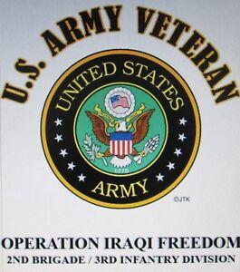 OPERATION IRAQI FREEDOM*2ND BRIGADE / 3RD INFANTRY DIVISION* W/ARMY EMBLEM*SHIRT