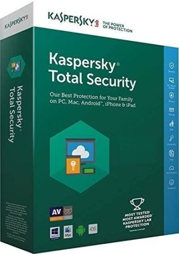Kaspersky Total Security 2019 3 devices 18 months Code  USA//CANADA Bilingual