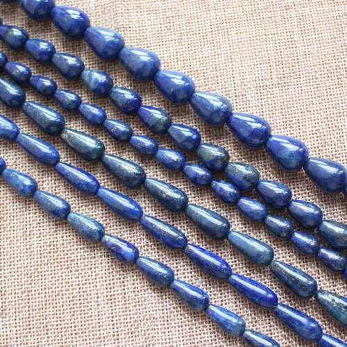 "8-20mm Lapis Lazuli Water drop Shape Beads 15/"""