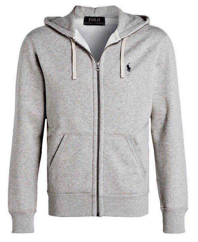 9848e8c4989ccf Polo Ralph Lauren Kapuzenpullover Hoodie Jacke - Farbe grau grau grau Größe  L 50c926