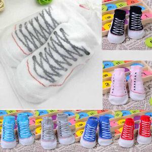 1 Pair Newborn Baby Infant Anti Slip Floor Shoe non-slip Slipper Shoelaces Socks
