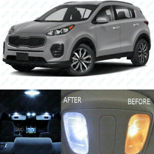 2017 Kia Sportage Accessories >> Details About For 2017 2018 Kia Sportage White Interior Led Lights Accessories Package Kit 7x