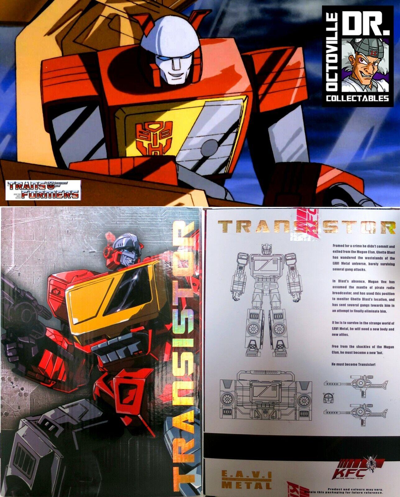 todos los bienes son especiales Transformers obra maestra maestra maestra KFC TOYS Transistor Matt Rojo MP Blaster Nuevo  el mas reciente