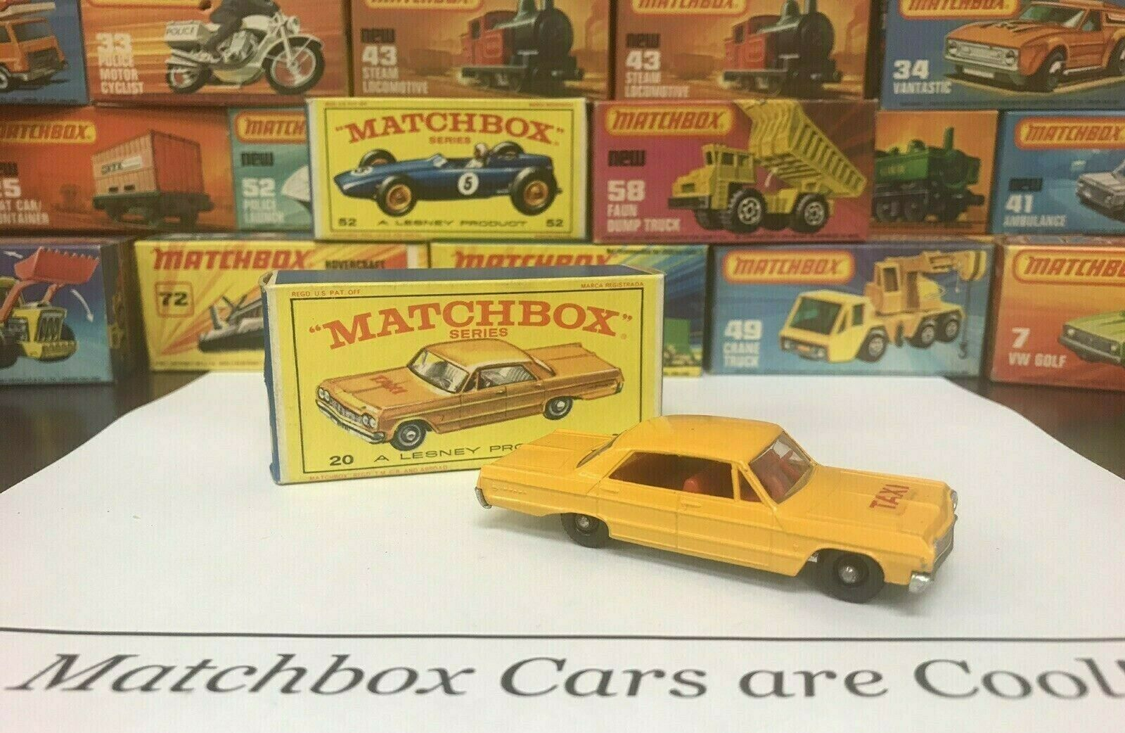 Matchbox  20 Chevrolet Impala Taxi Mint w box Awesome Condition, ULTRA COOL