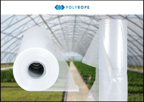 Greenhouse Clear Plastic Film Foil Cover 8 meters wide by 12 meteres long