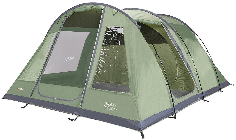Vango Odyssey 600   Tunnel Tent   6 person   NEU & OVP   4000MM   Grün