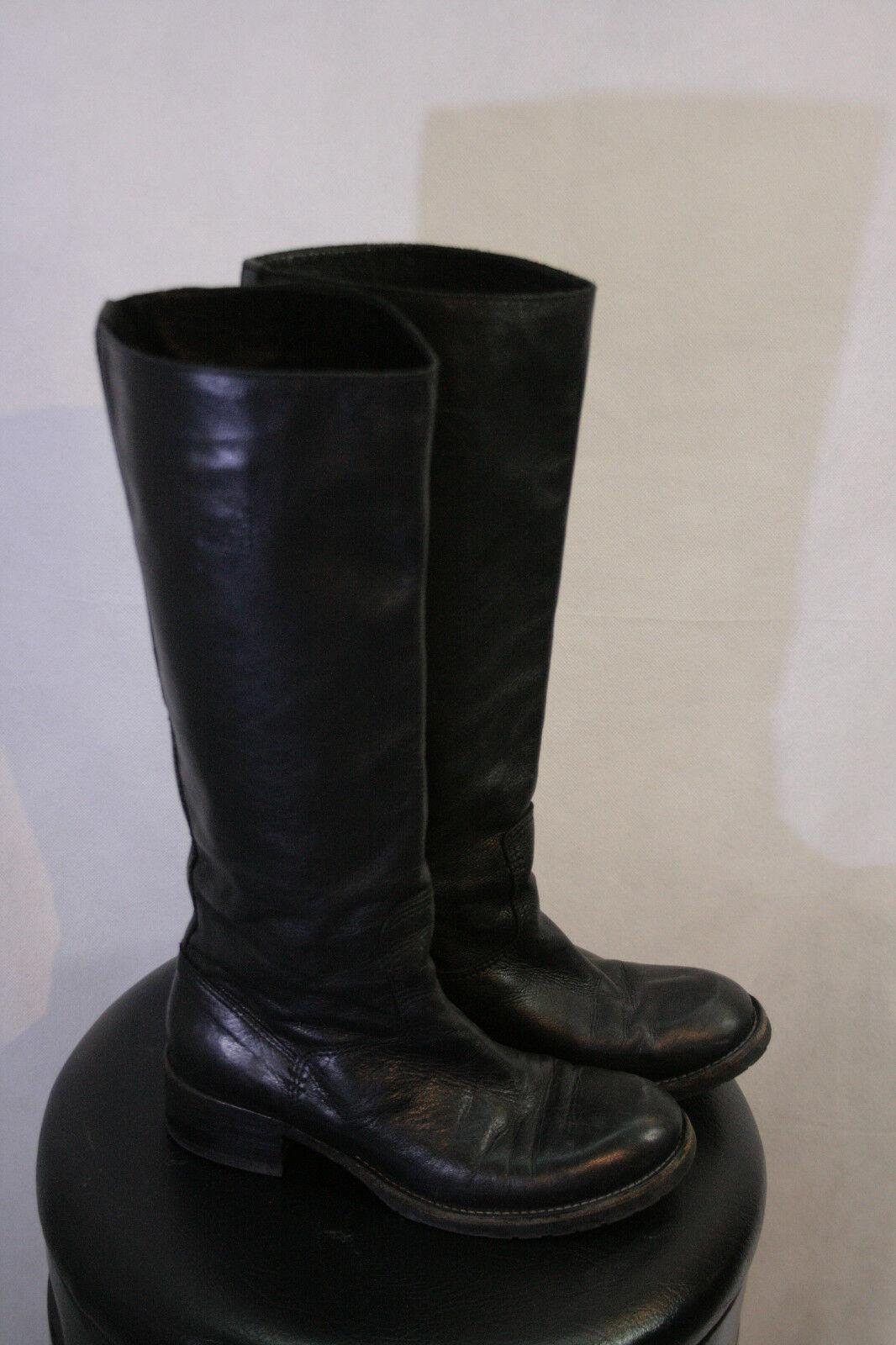 Stiefel schwarz GR.38   Klassisch  BITTE MESSEN