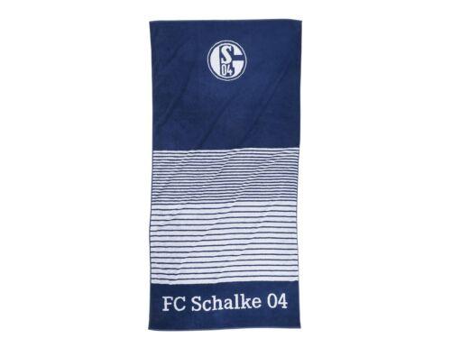 FC Schalke 04 badehtuch Saune rayures marine 90 x 180 cm 100/% coton